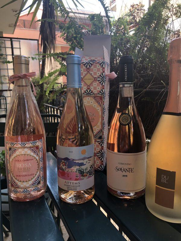 Rosa il vino di Donnafugata e D&G, Friuli Pinot Grigio Ramato Attems, Solante 2019 Rose' DOP di Codice Vino, Spumante Metodo Classico Rose' Brut Dubl di Feudi San Gregorio