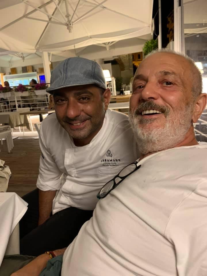 Raffaele Vitale e lo chef Michele Di Martino