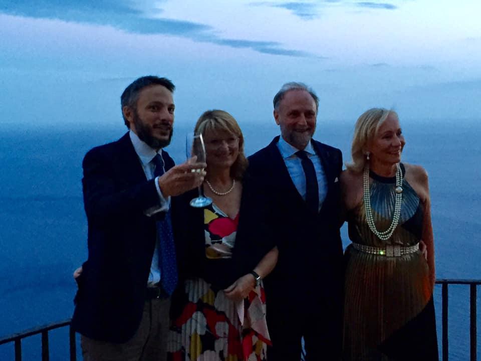 Vuilleumier con i produttori della serata, Antonio Capaldo e Marilisa Allegrini