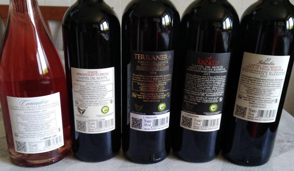 Controetichette vini Conte Spagnoletti Zeuli