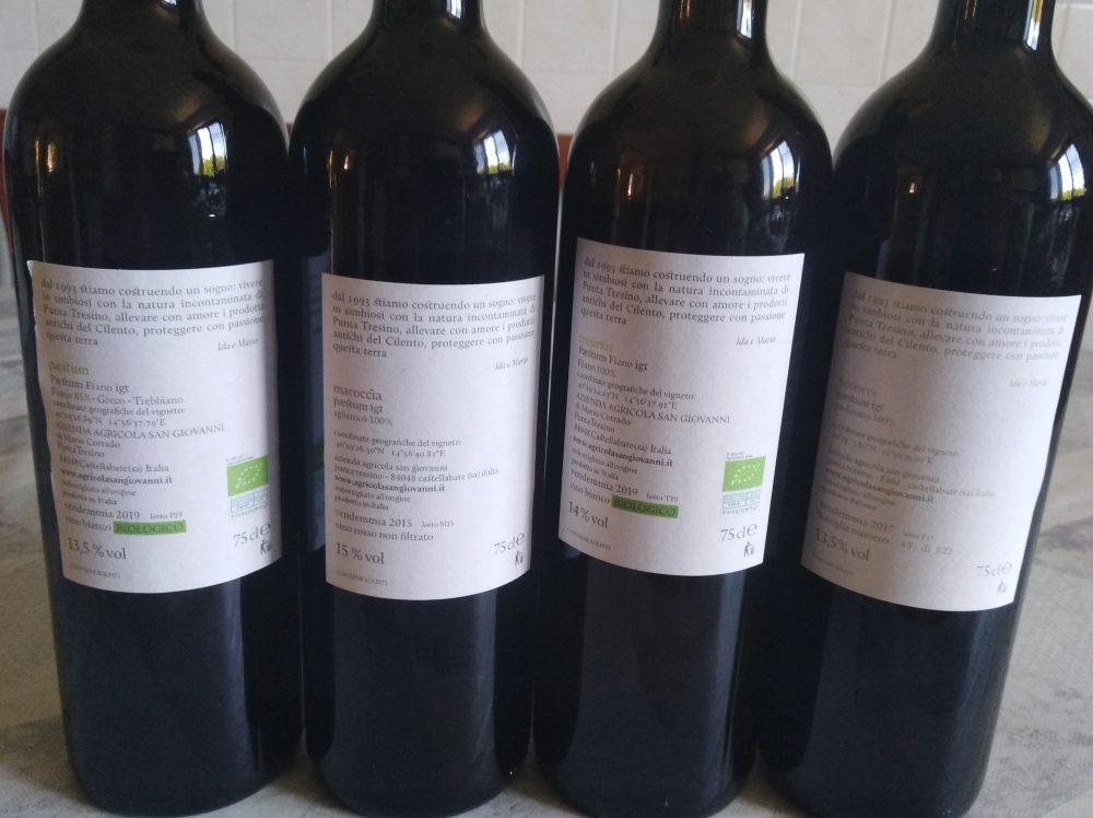 Controetichette vini azienda Sangiovanni