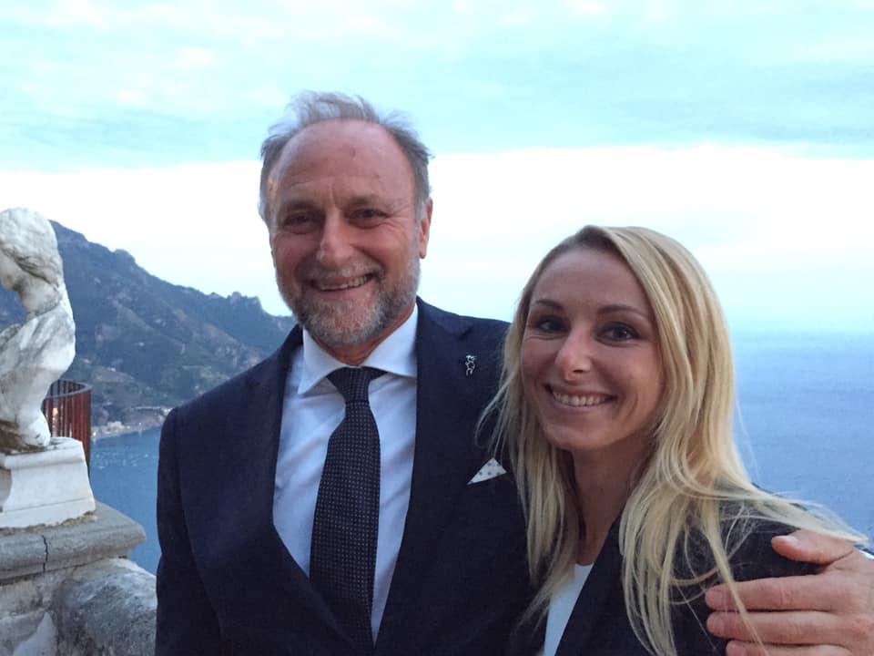 Giorgio Vuilleumier con la figlia Jasmine
