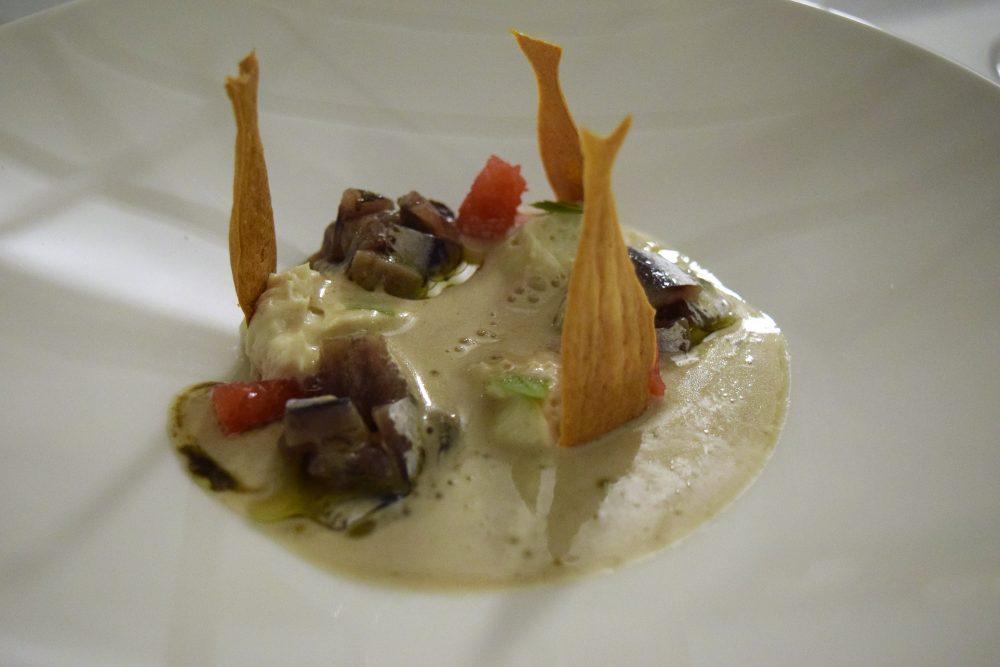 Osteria Arbustico - la Zuppetta di mandorle e acciughe
