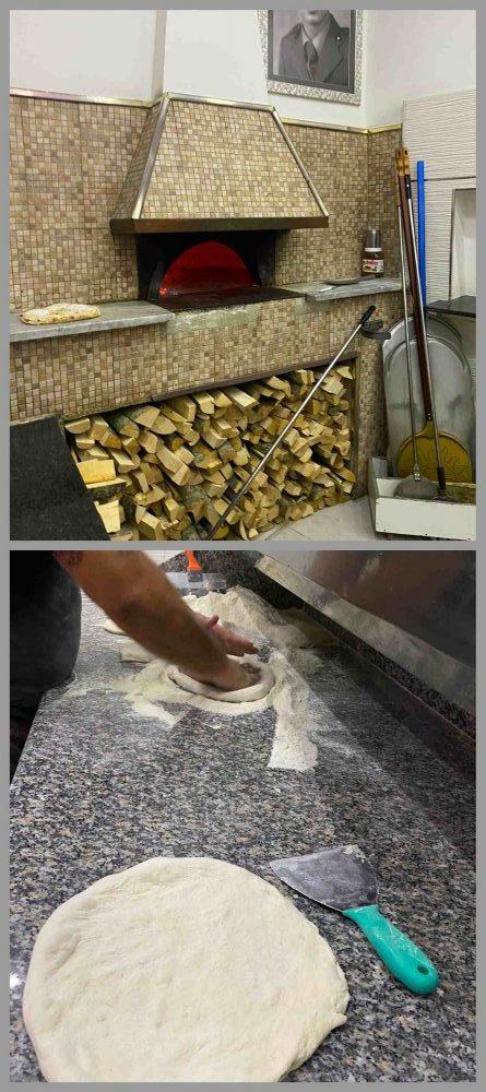 Pizzeria Anema e Core - il forno e la preparazione
