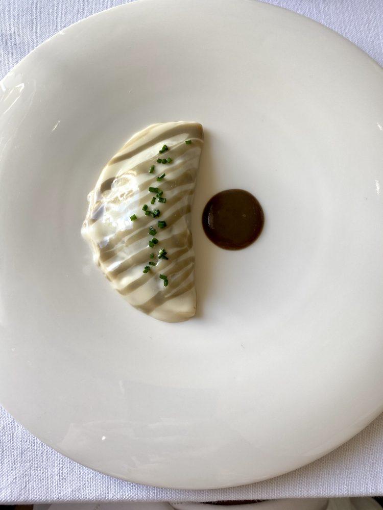 Ristorante Maeba - Crespella ai funghi, parmigiano e ostrica