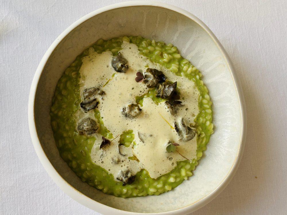 Ristorante Maeba - Orzo, aglio orsino e lumache