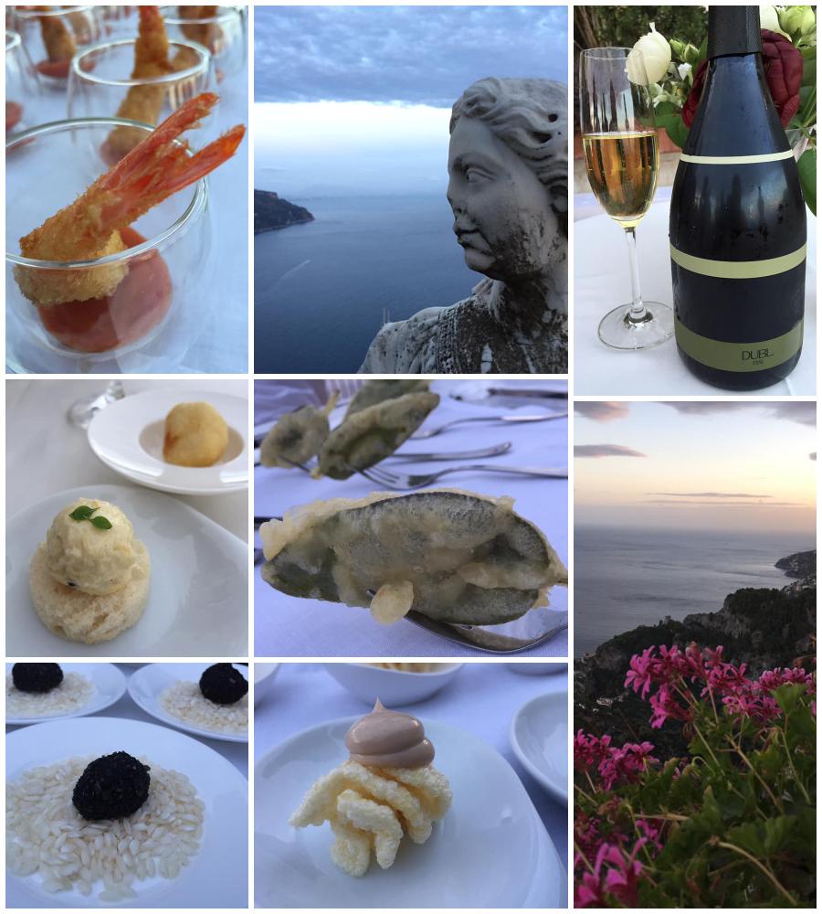 Villa Cimbrone, aperitivo in terrazza