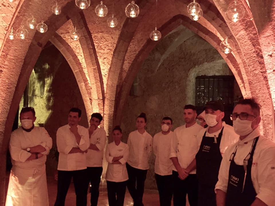 Villa Cimbrone, cena con Emanuele Scarello e Lorenzo Montoro, la squadra
