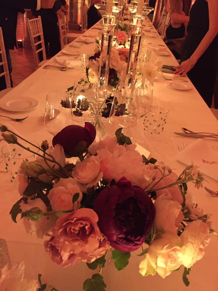 Villa Cimbrone, cena con Emanuele Scarello e Lorenzo Montoro, la tavola