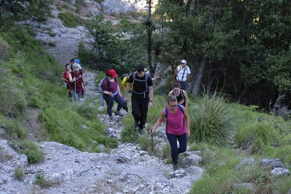 Sentiero delle formichelle escursionisti