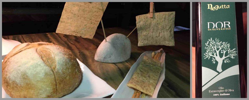 La Serra a Positano, pane e olio