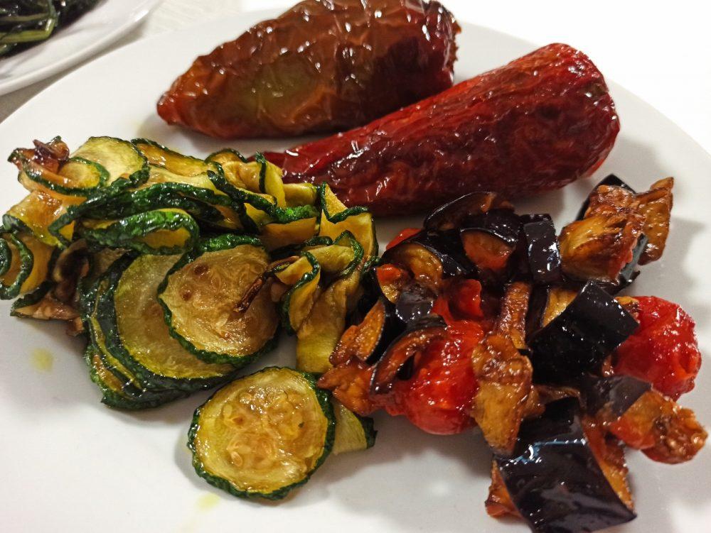 Da Gianni - Peperono 'mbuttunati, Zucchine alla scapece e Melanzane a funghetto