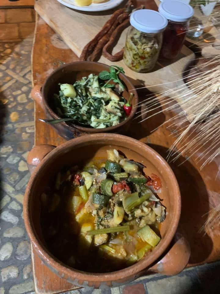 Pane e Salute, ciambotta fredda, patate ed erbe di campo