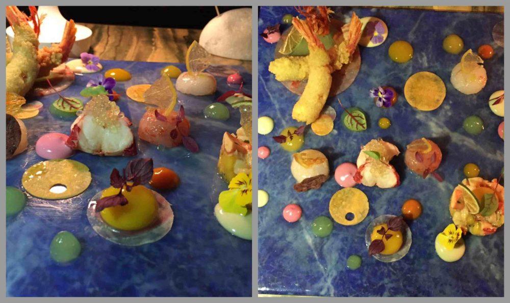 La Serra, Eclissi lunare di Kandinsky, variazione di crostacei, frutta e verdura