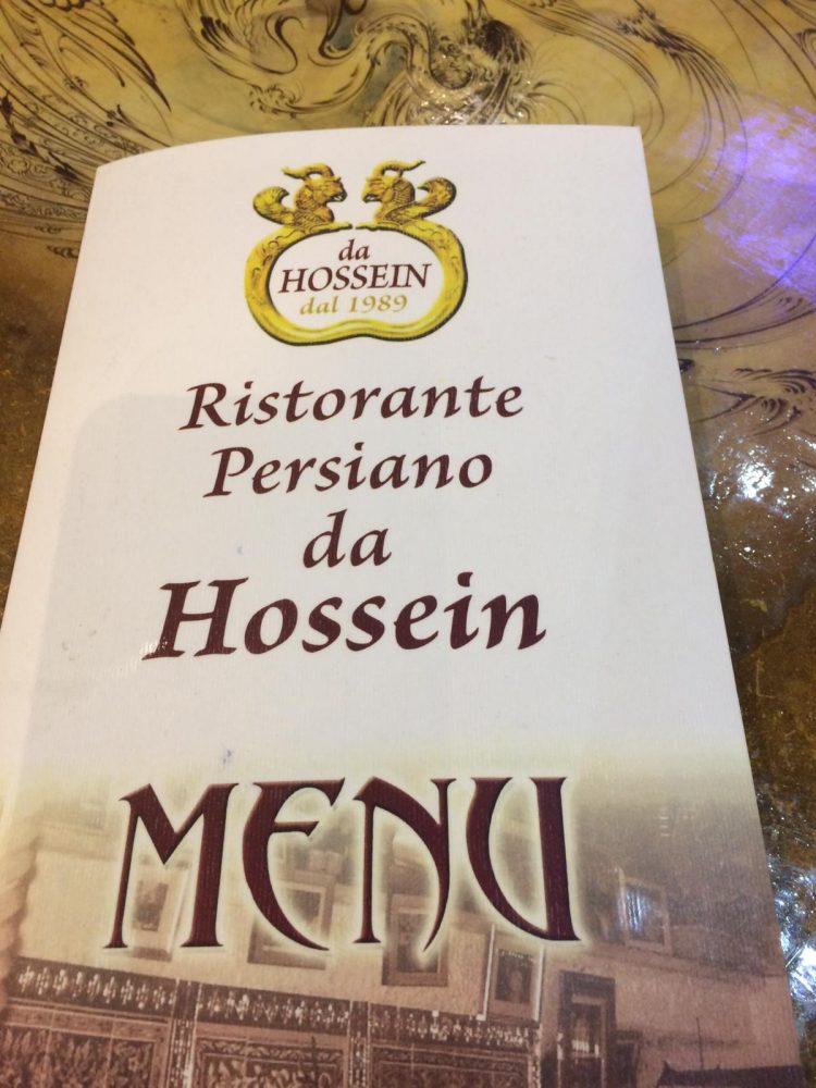 Da Hossein, menu'
