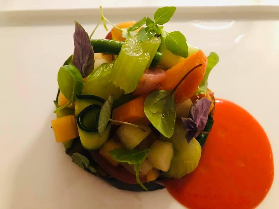ose' Restaurant - Scapece di melanzane frutta, verdura e pomodoro San Marzano