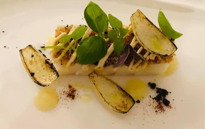 Jose' Restaurant - Baccala' affumicato cipolla bruciata, limone candito e olive
