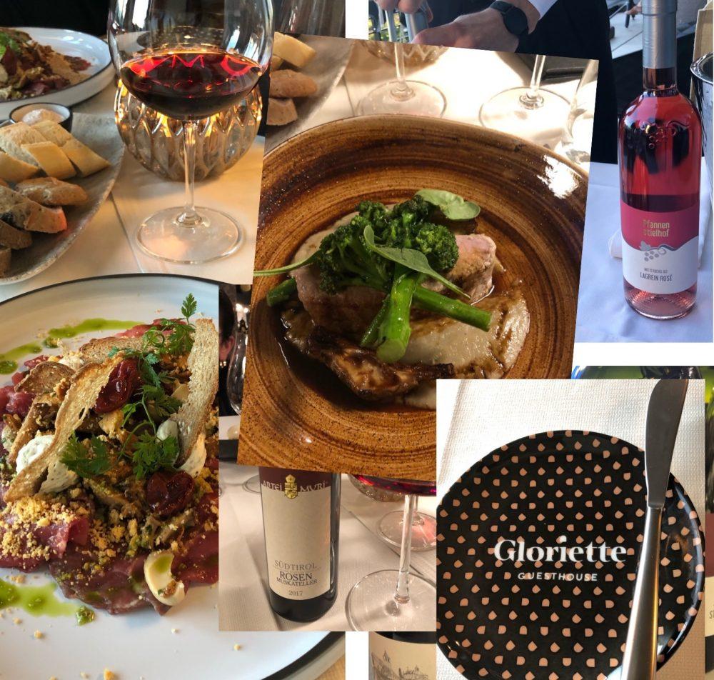 La cucina di Gloriette abbinata ai vini di Abei- Muri e di Pfannen Stielhof