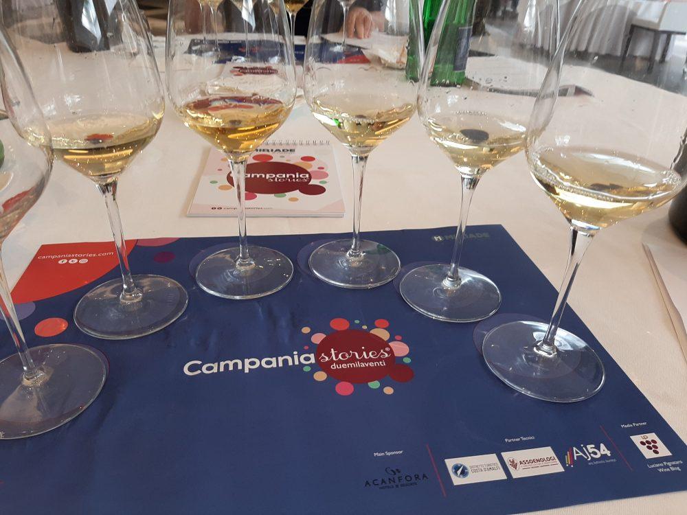 Campania Stories assaggio dei vini bianchi