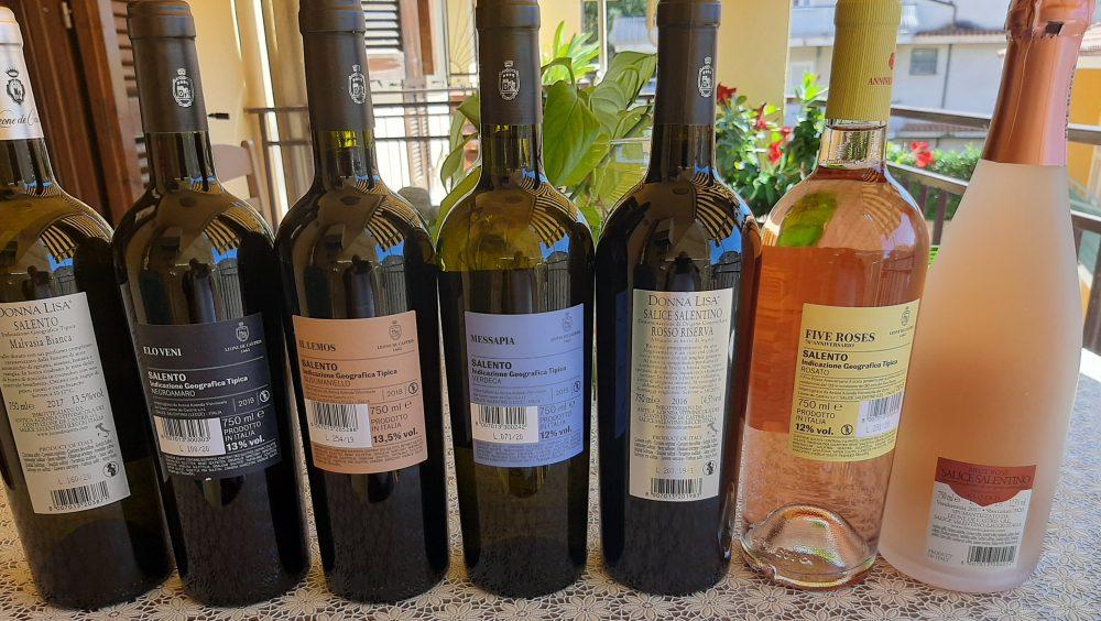 Controetichette vini Leone De Castris