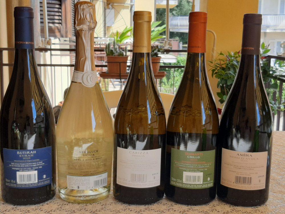 Controetichette vini Principi di Butera