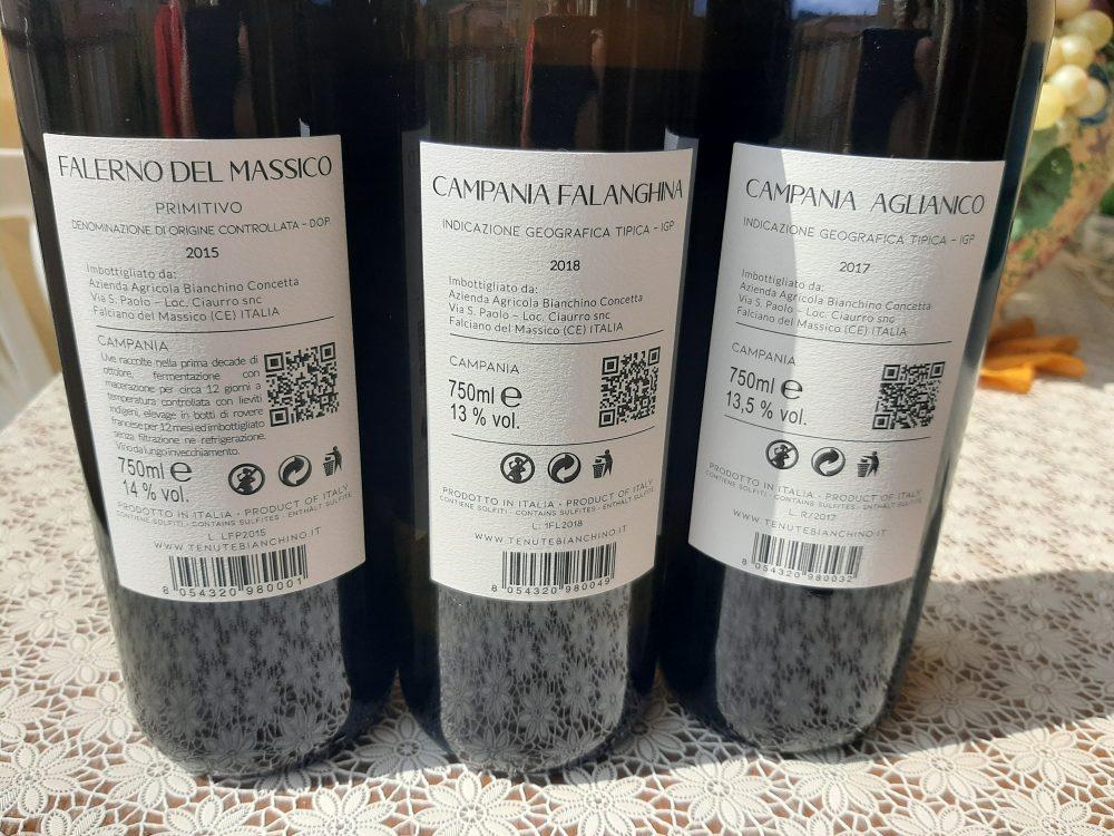 Controetichette vini Tenute Bianchino