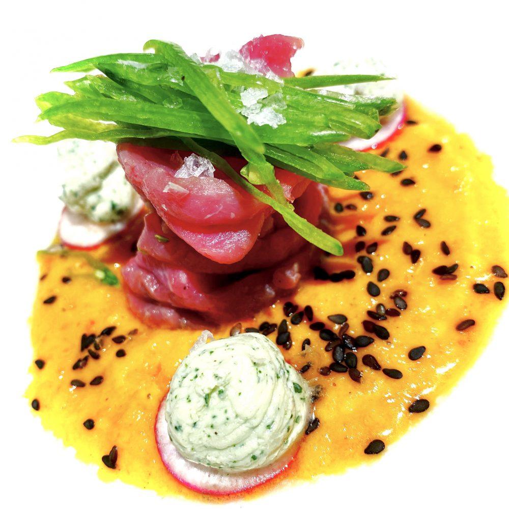 Portenno, Sashimi su Gazpacho di Pomodoro