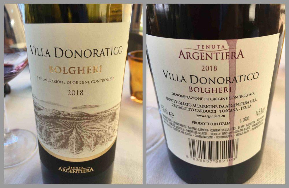 La Cantina del Pinzagrilli - Villa Donoratico etichetta