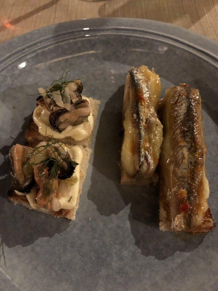 Malabar - crostino cozze alla scapece e salsa aioli