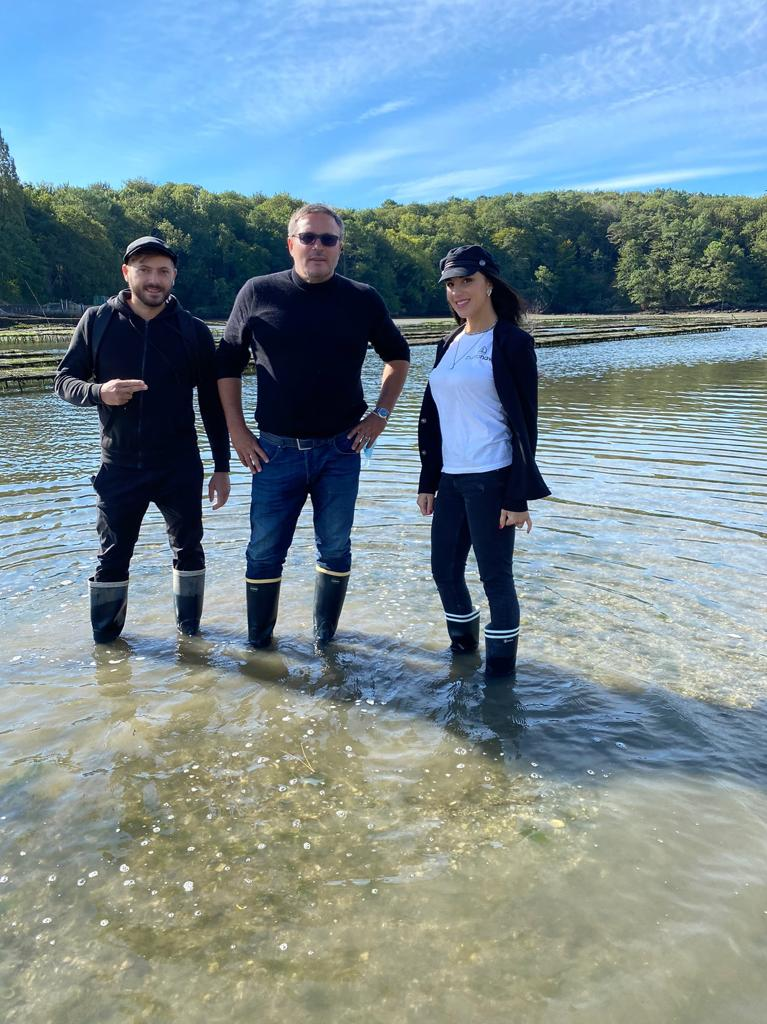 Nel fiume Belon con Jean Jacques Cadoret