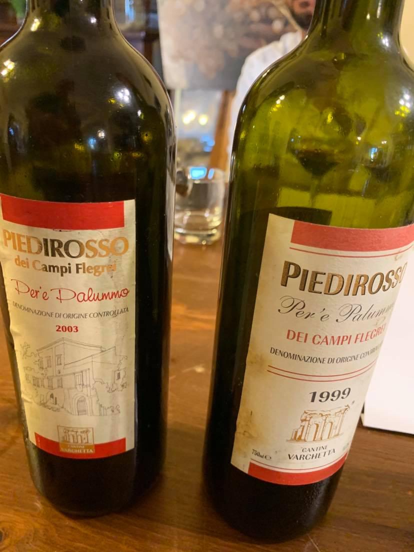 Piedirosso 2003 e 1999