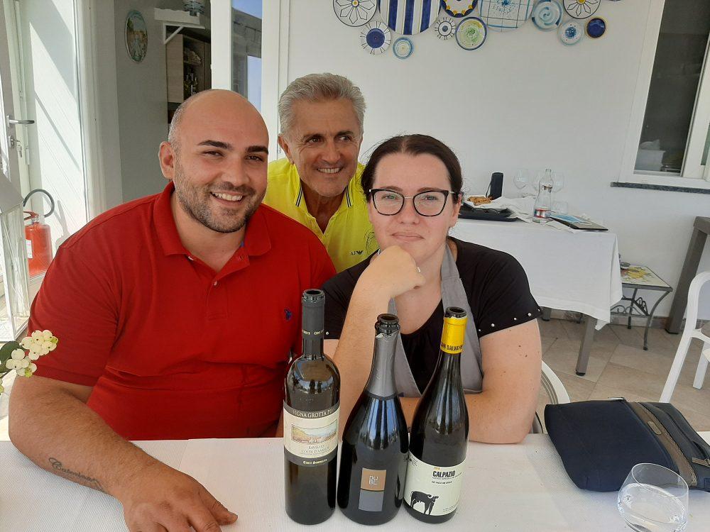 Vito Piccolo, Andrea Ferraioli e Caterina Cavaliere