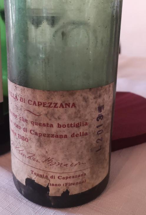 Capezzana 1930 - bottiglia