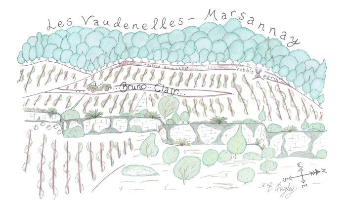 Clair Brennas map Vaudenelles