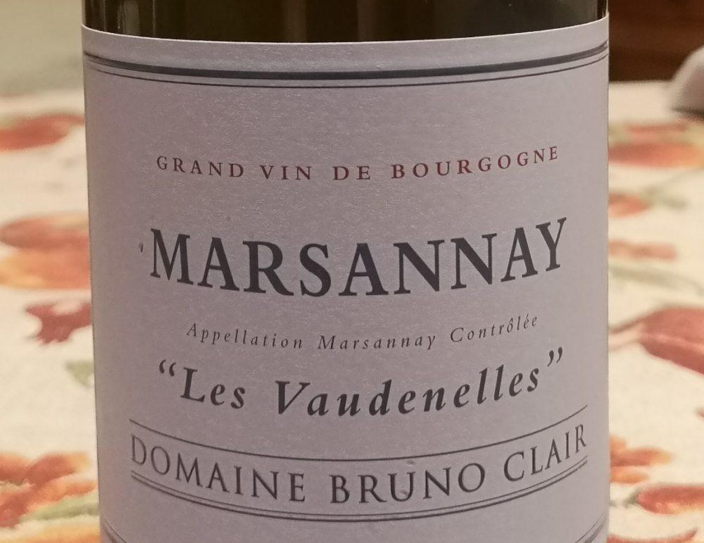 Marsannay Les Vaudenelles 2013, Bruno Clair