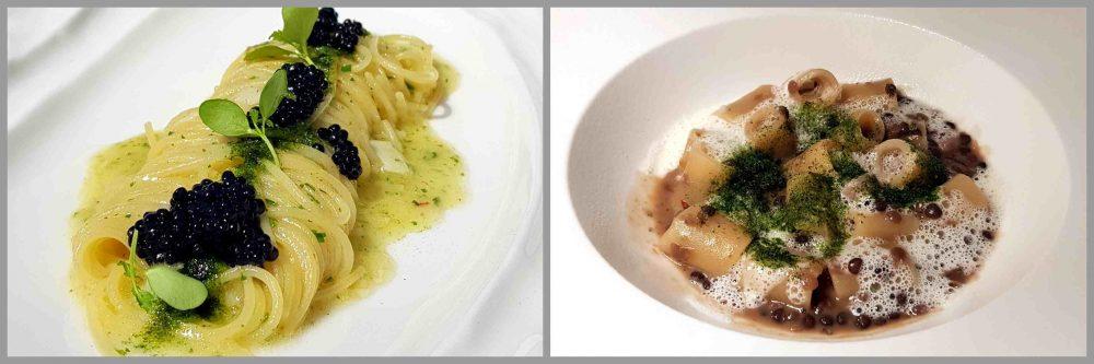 Ro World - spaghetto aglio olio e caviale e della pasta lenticchie ed ostrica