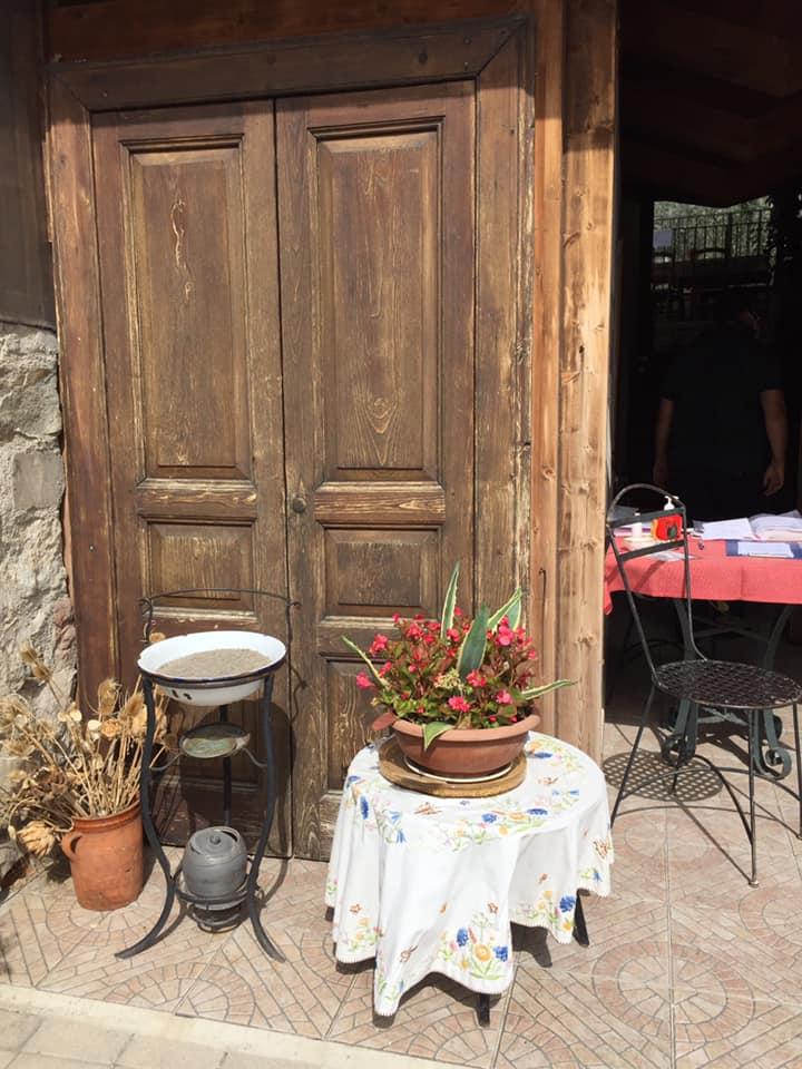 Locanda San Cipriano, l'ingresso