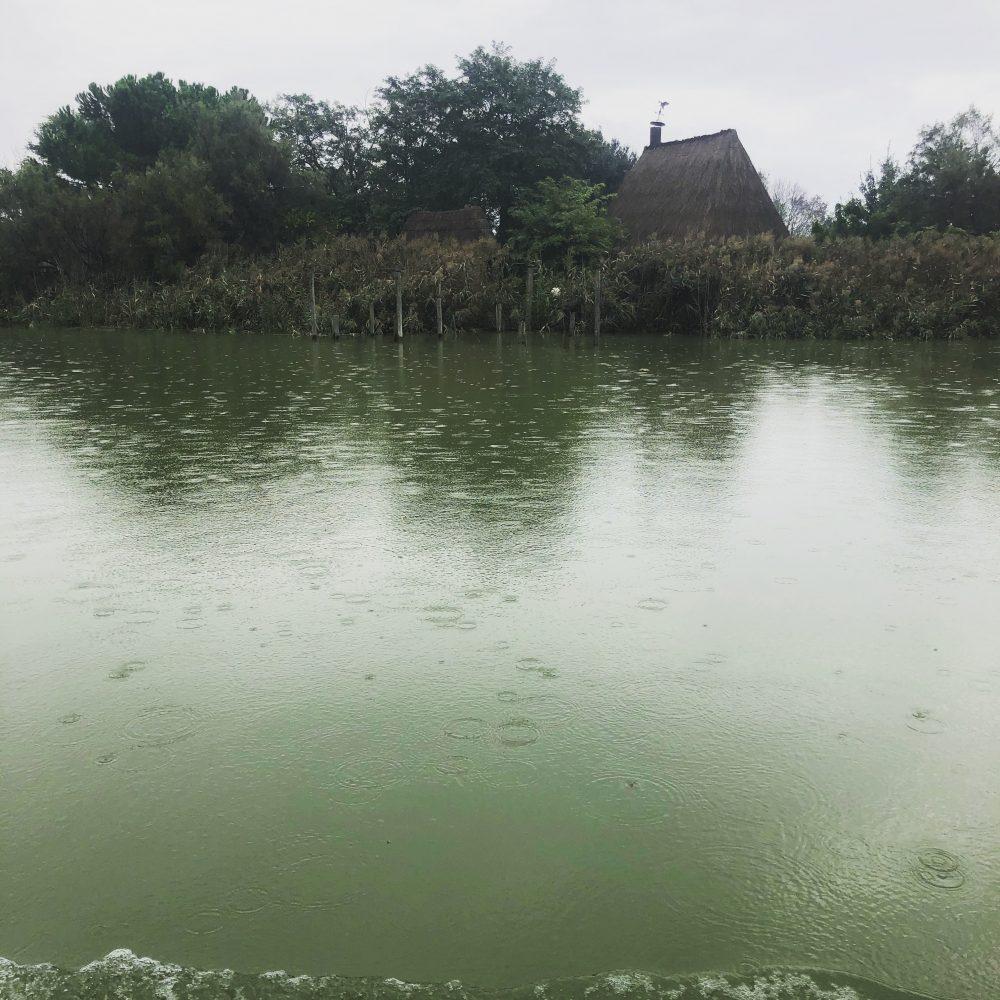 Un vecchio Cason della Laguna Veneta nascosto lungo la riva del Livenza