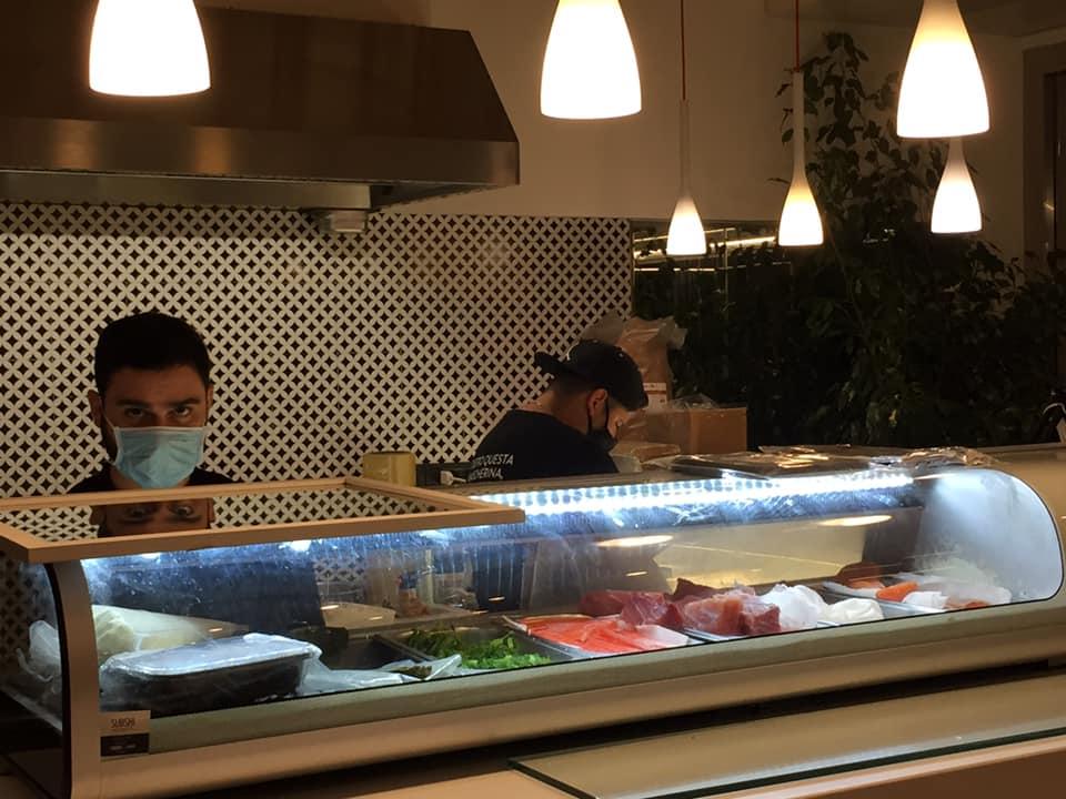 Non Solo Pane a Vallo della Lucania, il banco sushi