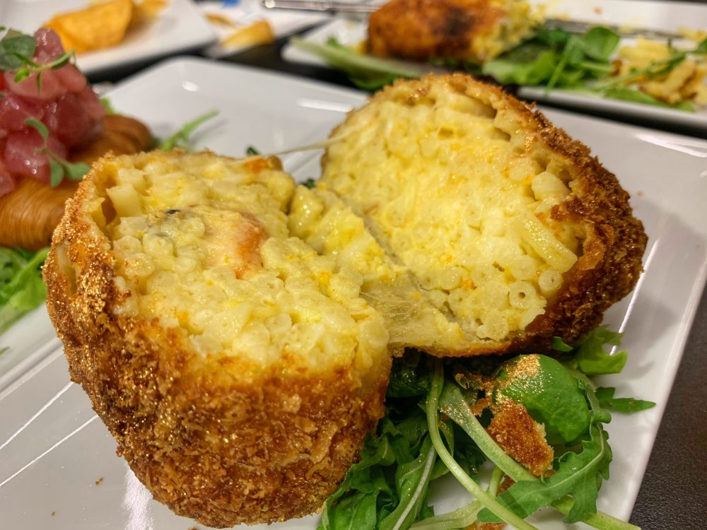 Barittico, frittatina pasta patate e cozze