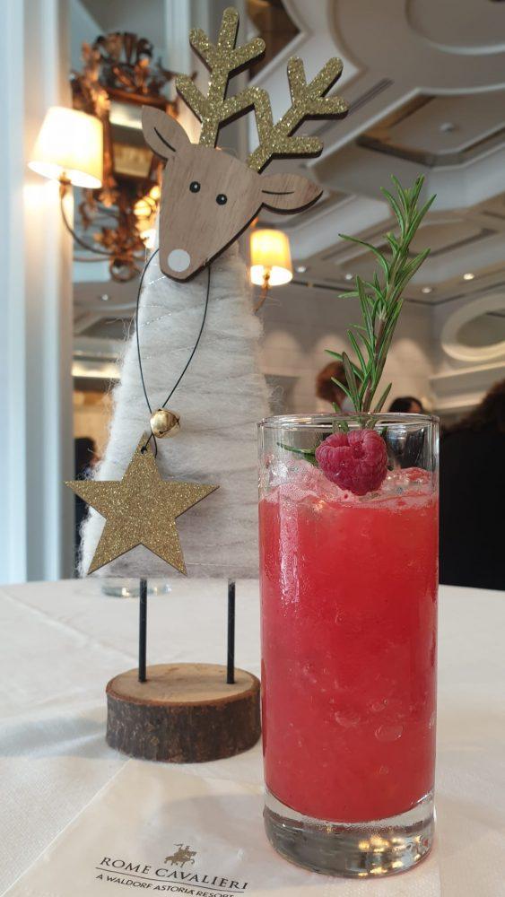 Anteprima festivita' natalizie Rome Cavalieri 2020 - Cocktail frutti di bosco