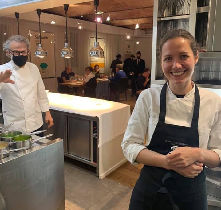 Casa Maria Luigia la chef Jessica Rosvald e Massimo Bottura