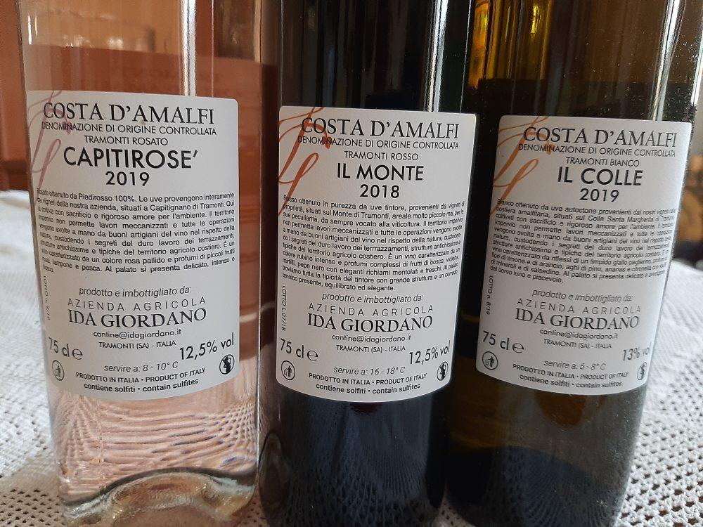 Controetichette vini Cantine Ida Giordano