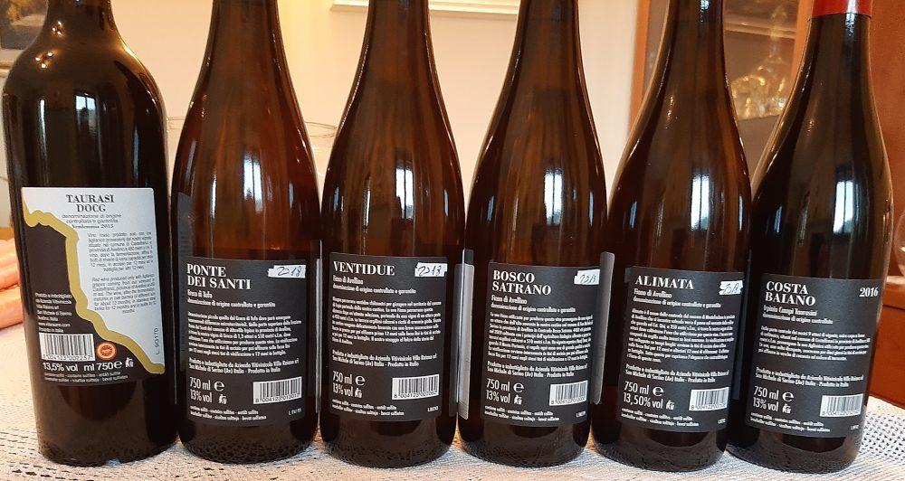Controetichette vini Villa Raiano
