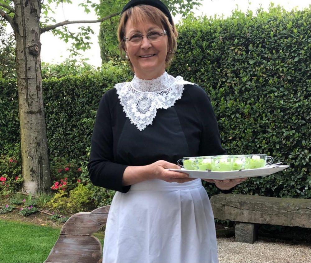 Fiorella Maria Visconti, titolare della Trattoria Bergamasca che prende il suo cognome