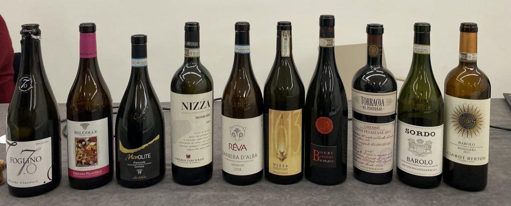 Grandi vini del Piemonte - I vini in degustazione.