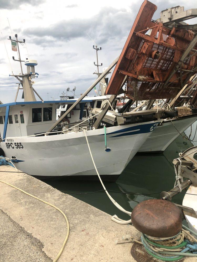 Porto di Giulianova, imbarcazione usata dai vongolari