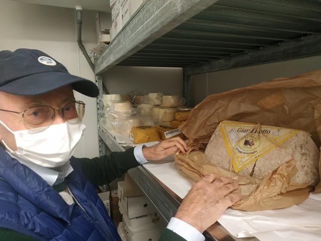 Una selezione di formaggi del giacimento gastronomico di Cibaria