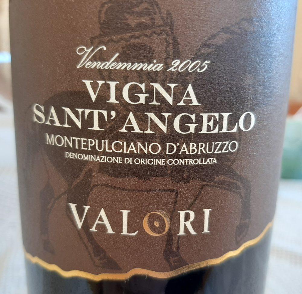 Vigna Sant'Angelo Montepulciano d'Abruzzo Doc 2005 Valori