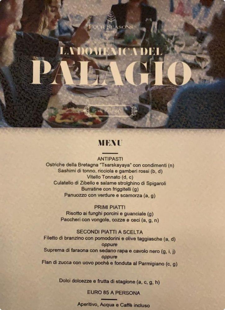 domenica palagio pranzo vito mollica four seasons firenze menu